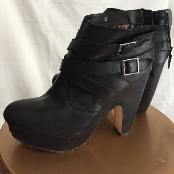 Seychelles Black Platform Ankle Boots